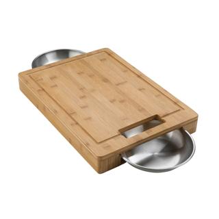 Planche à découper en Bamboo avec bols Série PRO