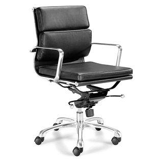 Chaise de bureau avec bras et dossier bas Director