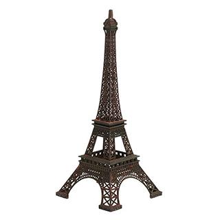 Tour Eiffel en métal 15po de haut