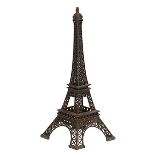Tour Eiffel en métal 12po de haut