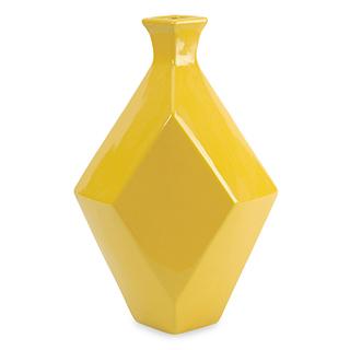 Vase en céramique jaune - grand
