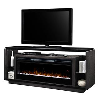 Meuble télé 70 po avec Foyer intégré