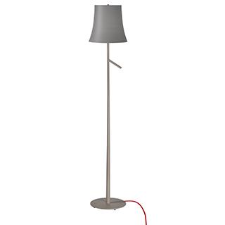 Lampe de plancher grise