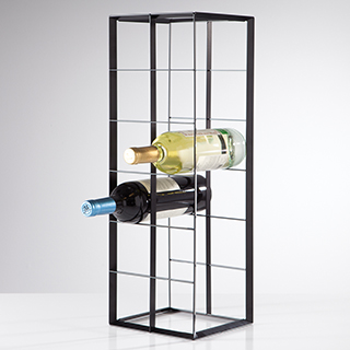 Support à vin en métal pour 12 bouteilles