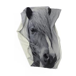 Jeté en polyester imprimé Cheval