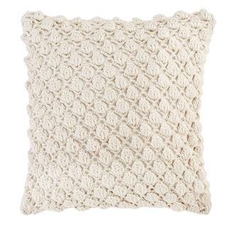 Coussin carré en tricot de laine