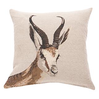 Coussin carré avec imprimé antilope
