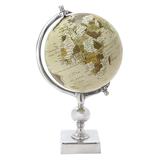 Globe terrestre 15po de hauteur