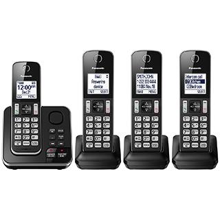 4 téléphones sans fil Dect6 avec afficheur et répondeur