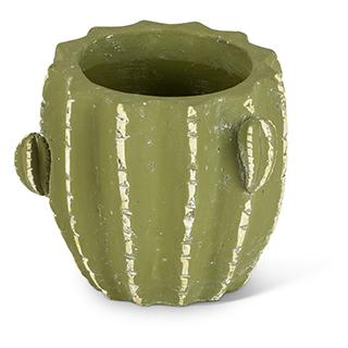 Cache-pot en forme de cactus en terracotta - grand