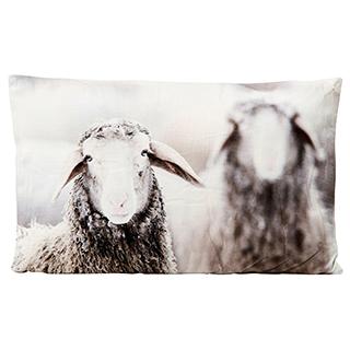 Coussin rectangulaire avec moutons