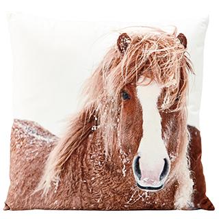 Coussin carré cheval