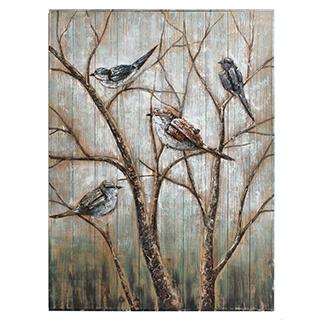 Peinture sur bois Oiseaux