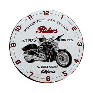 Horloge murale avec moto