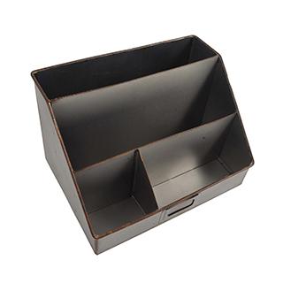Classeur pour bureau en métal noir