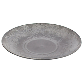 Assiette grise foncée en plastique