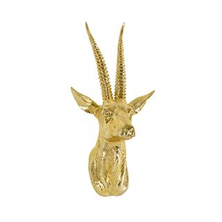 Appliqué mural tête d'antilope