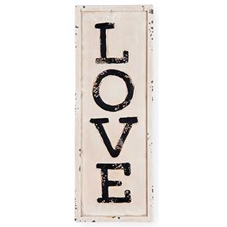 Appliqué mural en métal Love
