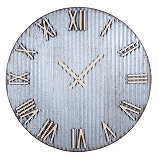 Horloge murale en métal 32po
