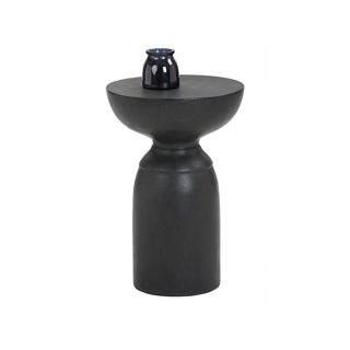 Table d'appoint en ciment noir