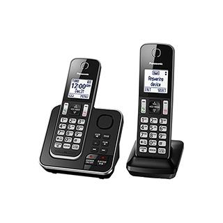 2 téléphones sans fil avec afficheur et répondeur 15 min