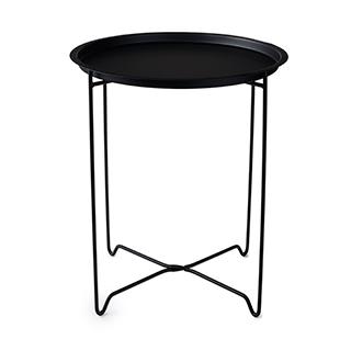 Table d'appoint en métal noir mat