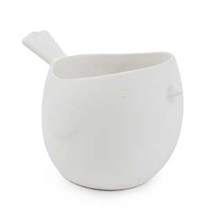 Vase décoratif Toluca blanc