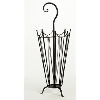 Porte-parapluie en métal noir