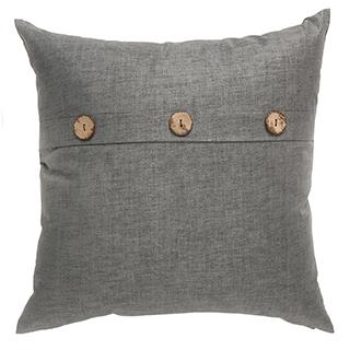 Coussin gris avec 3 boutons