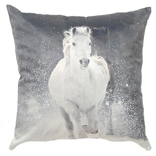 Coussin carré avec imprimé cheval