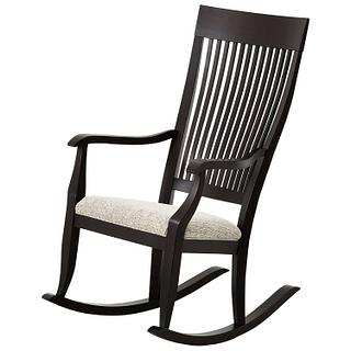 Chaise ber ante en bois un salon chaleureux tanguay for Chaise berceuse