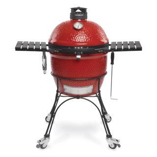 Barbecue au charbon Kamado Joe avec chariot sur roues