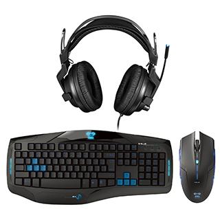Clavier, souris et casque d'écoute avec micro pour gamer