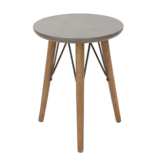 Table d'appoint bois gris et naturel