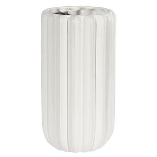 Vase décoratif blanc laqué