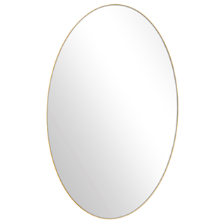 Miroir oval avec contour doré 24x40po