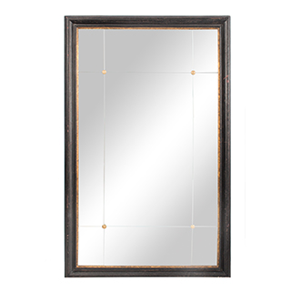 Miroir avec cadre en bois - Noir et doré