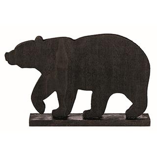 Ours décoratif en bois - noir