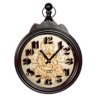 Horloge murale avec mouvement apparent