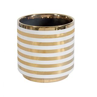Vase décoratif avec lignes dorées