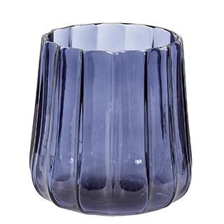 Vase en verre bleu marine