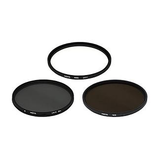 Trousse 3 filtres UV/polarisant 58mm Hoya