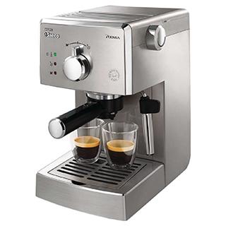 Machine à espresso manuelle Poemia avec chauffe-tasse