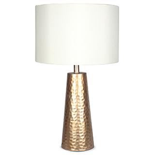 Lampe de table Matt avec base en métal doré mat