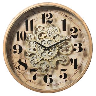 Horloge murale avec mouvement apparent 18po