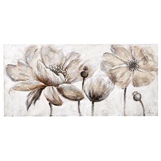 Toile aux tons neutres de Fleurs