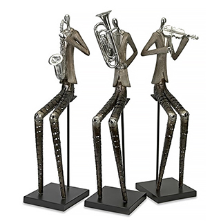 3 sculptures en métal