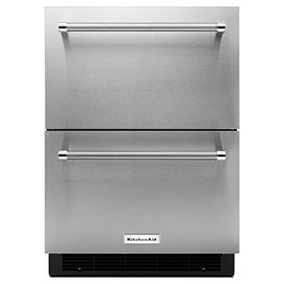Réfrigérateur/tiroir double de 24po