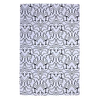 Carpette « Black & White » tissée à la machine (5 x 7 pi)