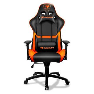 Chaise Cougar orange et noire pour gamer